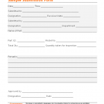 Sample submission form