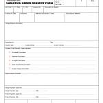Variation order request form