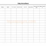 Daily arrival book