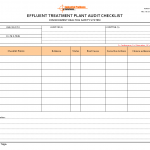Effluent treatment plant audit checklist