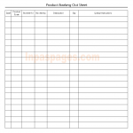 Product booking out sheet