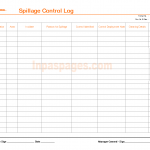 Spillage control log template