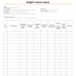 Weight control check