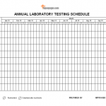 Annual laboratory testing schedule template