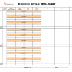 Machine cycle time audit template