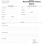 Nonconformity closure report template