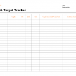 Objectives and target tracker