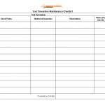 Tool Preventive maintenance checklist template