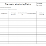 Standards monitoring matrix template