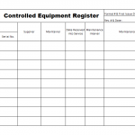 Controlled equipment register template