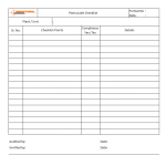 Plant Audit checklist template