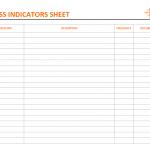 Effectiveness indicator sheet template