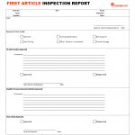 Grow by small steps for First article inspection procedure template
