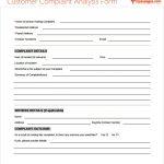 Customer Complaint Analysis Form