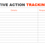 Preventive Action Tracking template